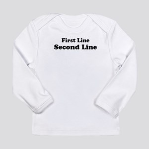 2lineTextPersonalization Long Sleeve Infant T-Shir